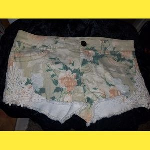 Mossimo Floral Lace Embroidered Shorts